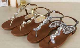 Rc珍珠凉鞋