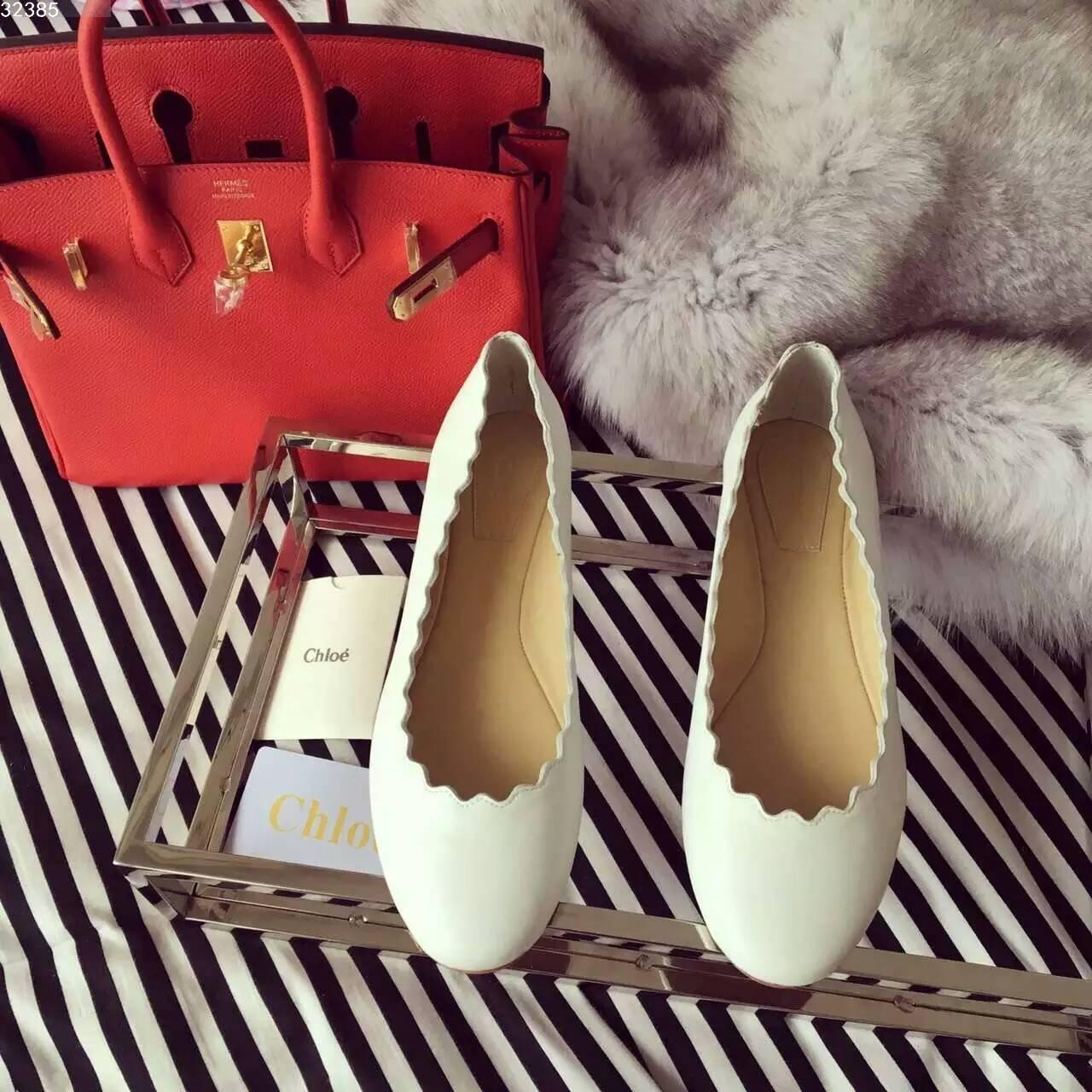 chloe 经典花边单鞋