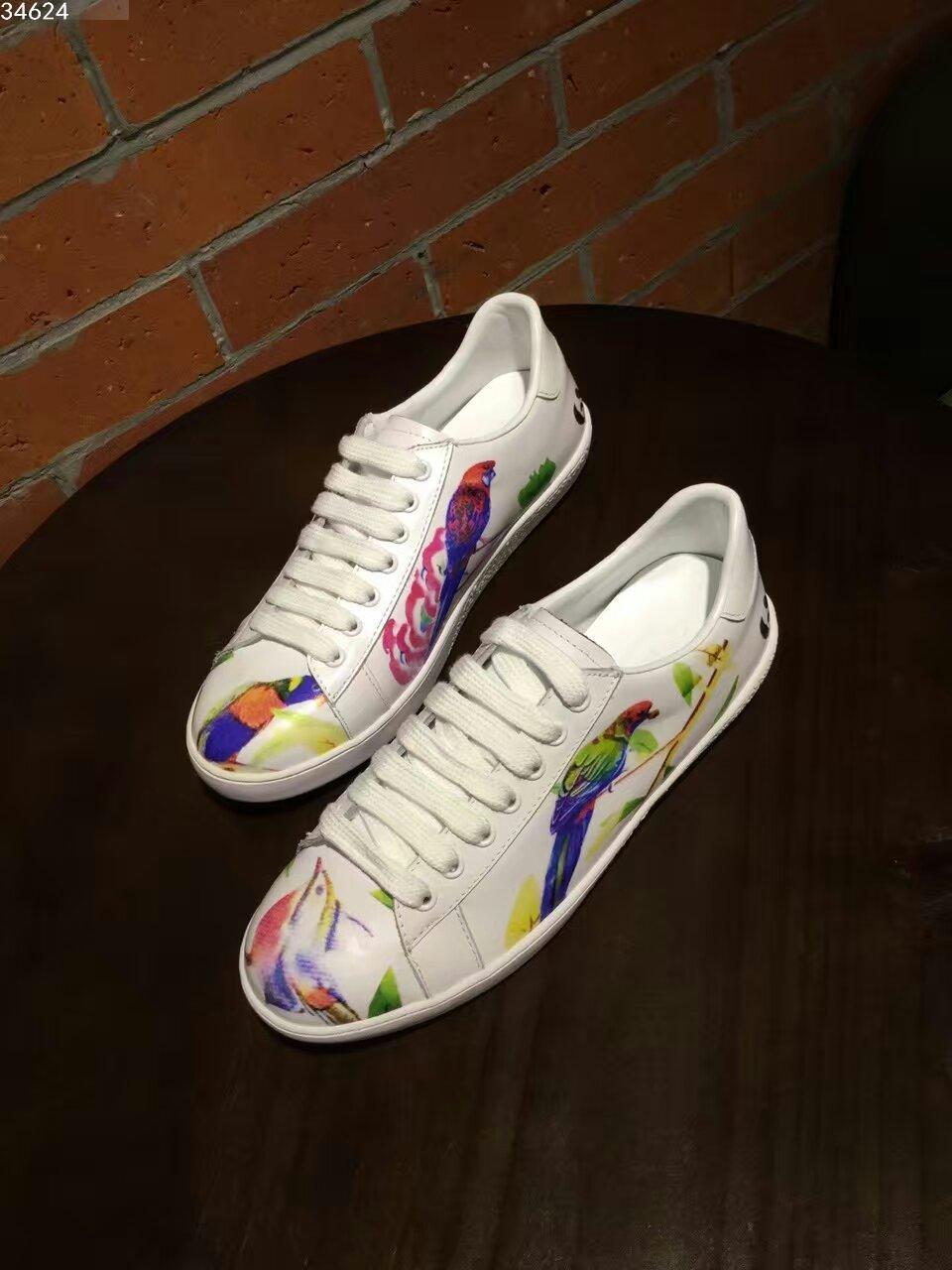 水彩系列小白鞋