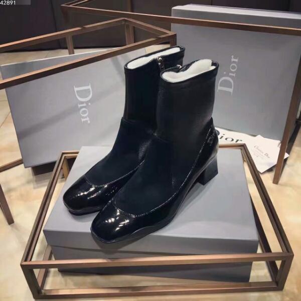Dior弹力方跟短靴